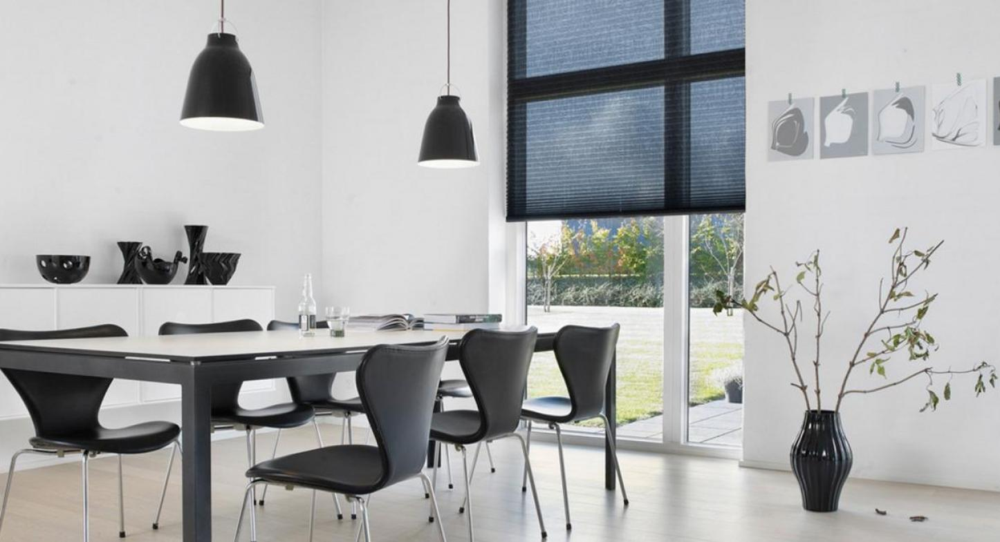 5 cortinas Hunter Douglas para decorar el comedor