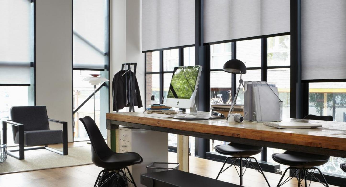 Cortina roller para oficina hunter douglas per - Cortinas para oficinas ...