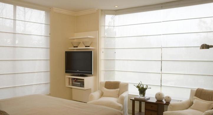 Cortinas y persianas para paredes amarillas y beige