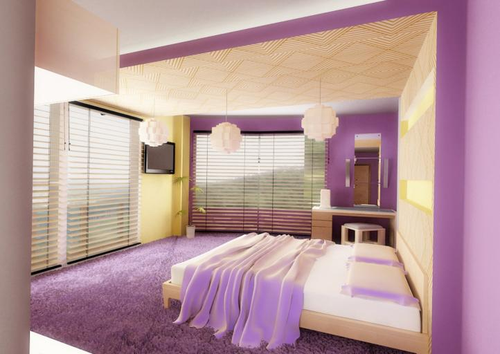 Decora tu dormitorio púrpura con las cortinas Hunter