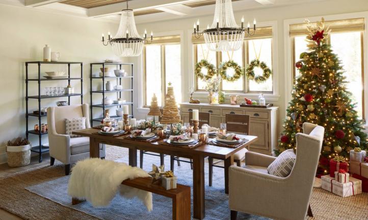 Cortinas y persianas en la decoración de Navidad