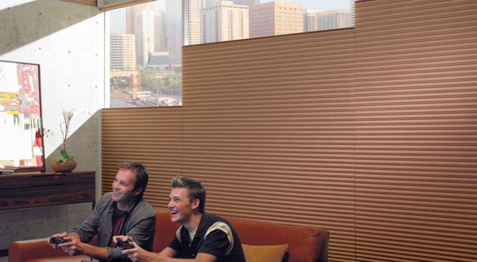 Crea la mejor sala de entretenimiento con cortinas blackout