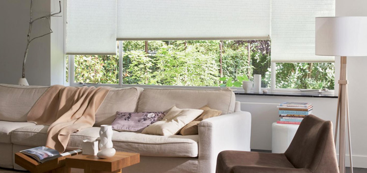 Hunter Douglas cortinas duette sala